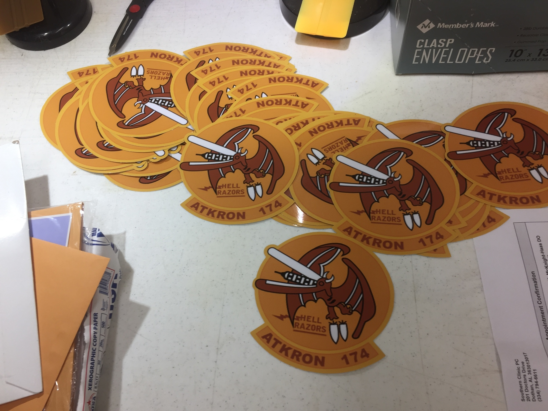 John's photograph of their Die Cut Stickers