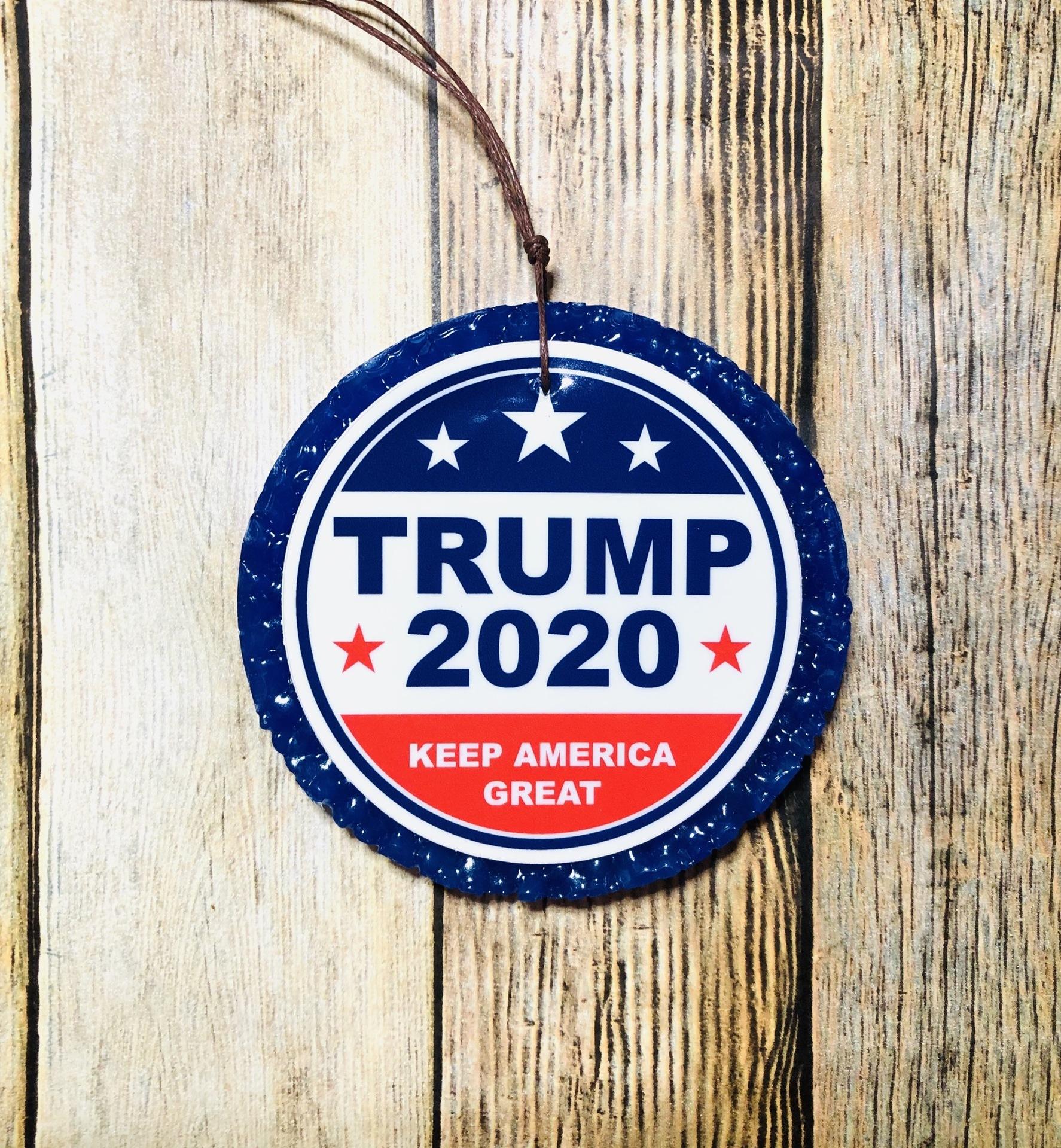 Rachel's photograph of their Trump 2020 Circle Sticker