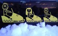 Jennifer's photograph of their Snowmobile Dad Family Sticker