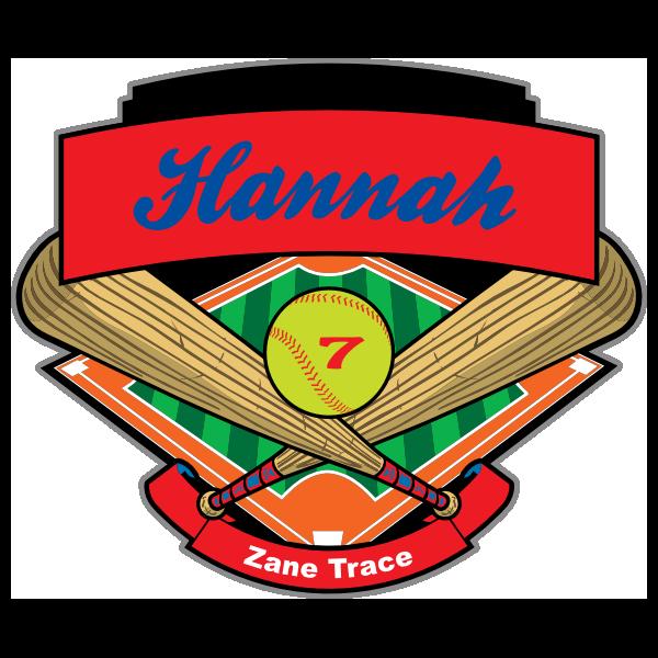 Amy's photograph of their Softball Bats Ball & Diamond Sticker