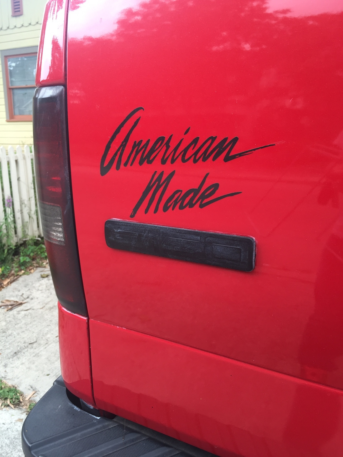 Brendan's photograph of their American Made Vinyl Lettering Sticker