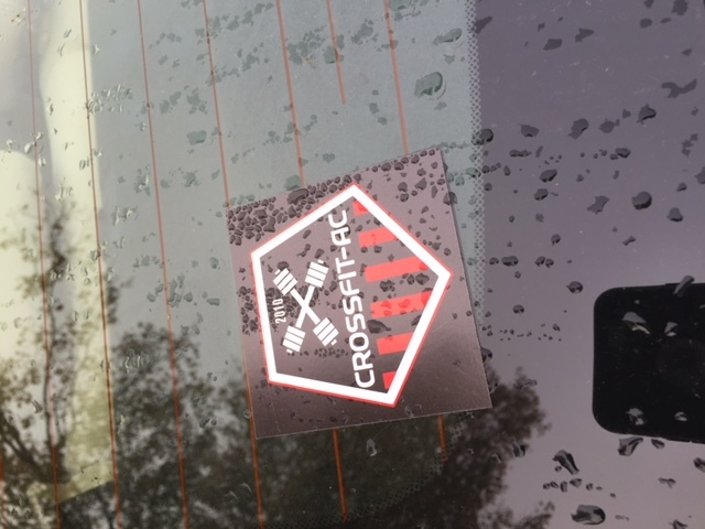 Matt's photograph of their Rectangle Stickers