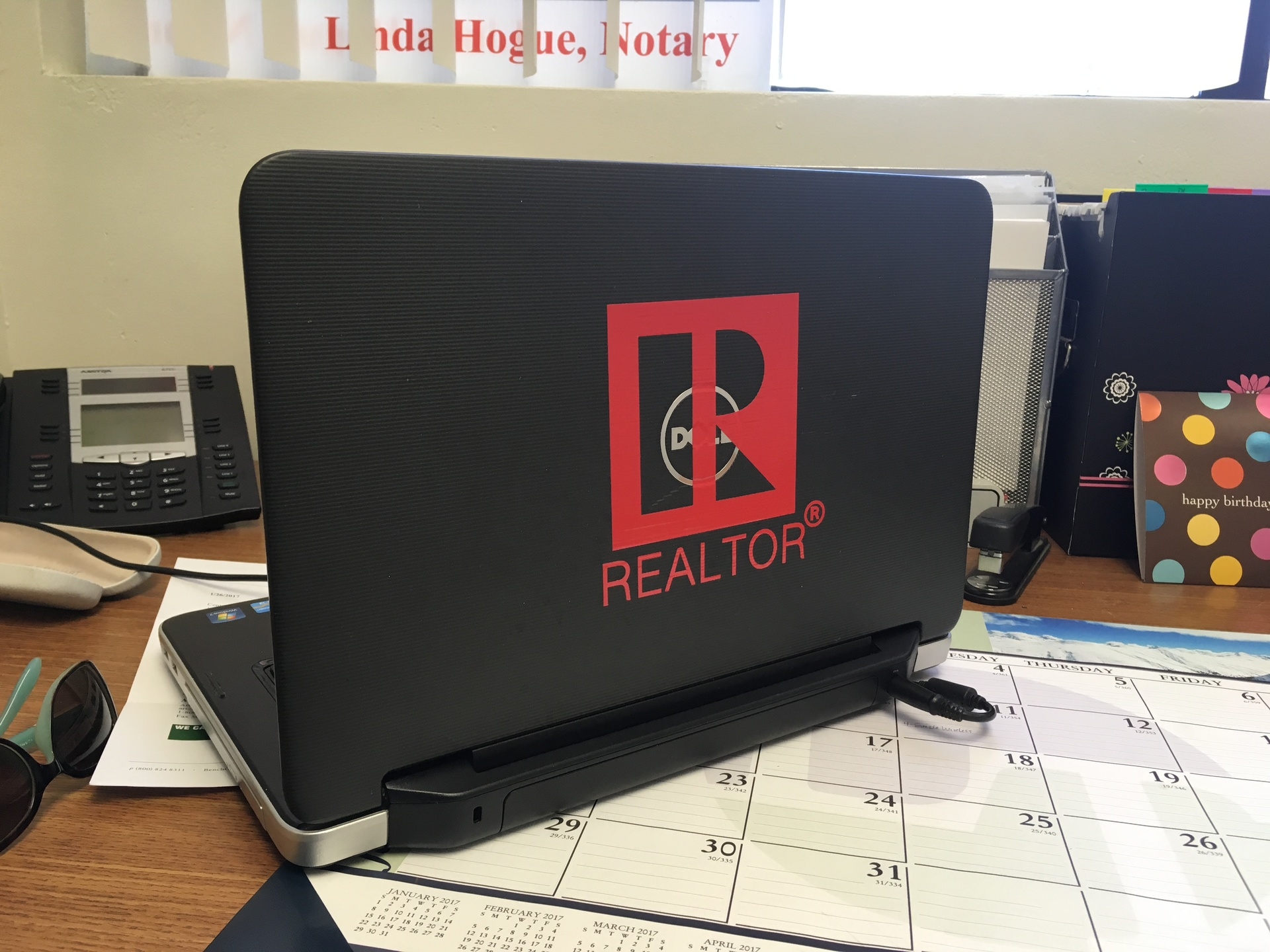 Linda's photograph of their Realtor Real Estate Agent Sticker