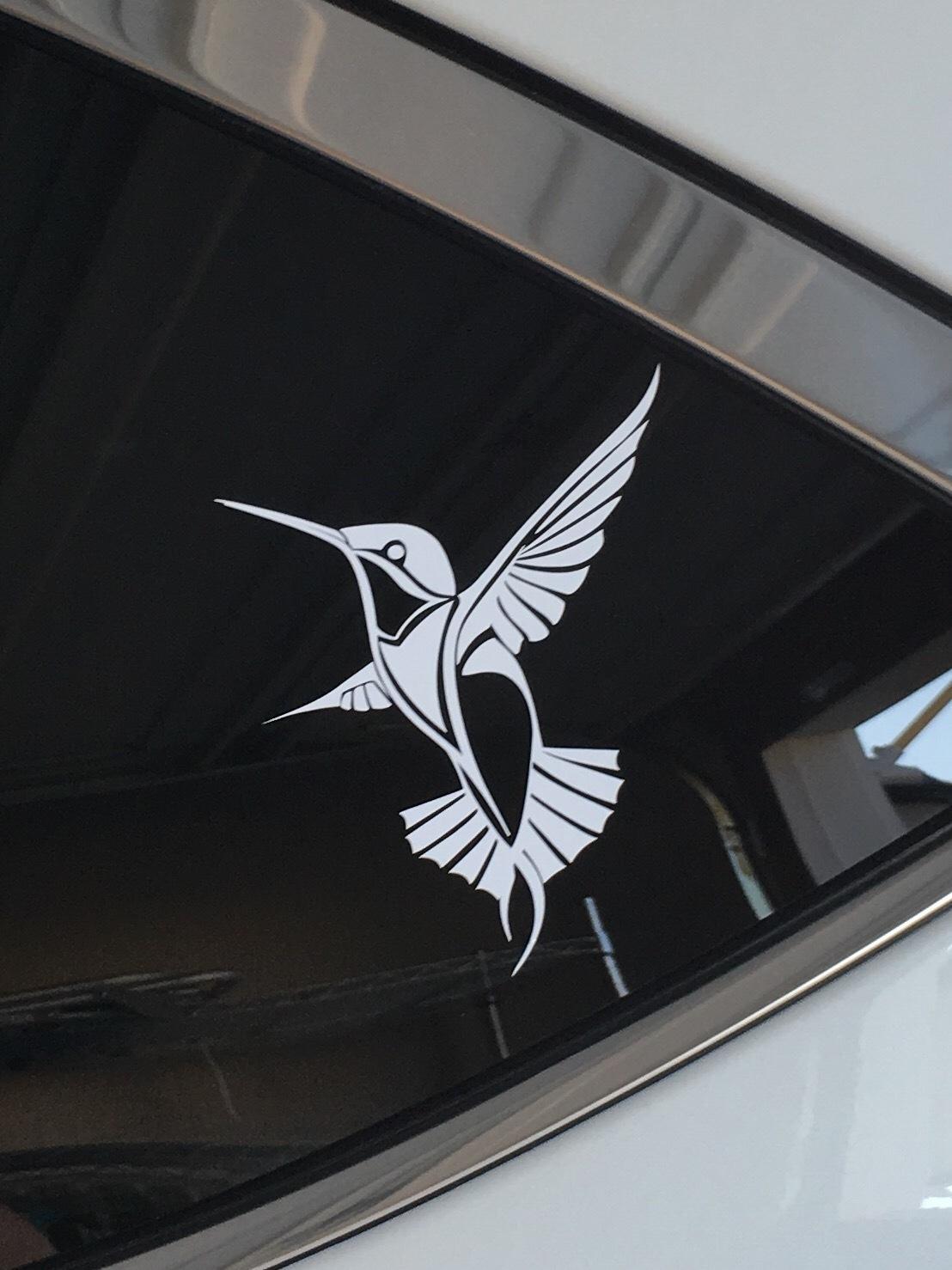 Jennifer's photograph of their Detailed Hummingbird Sticker