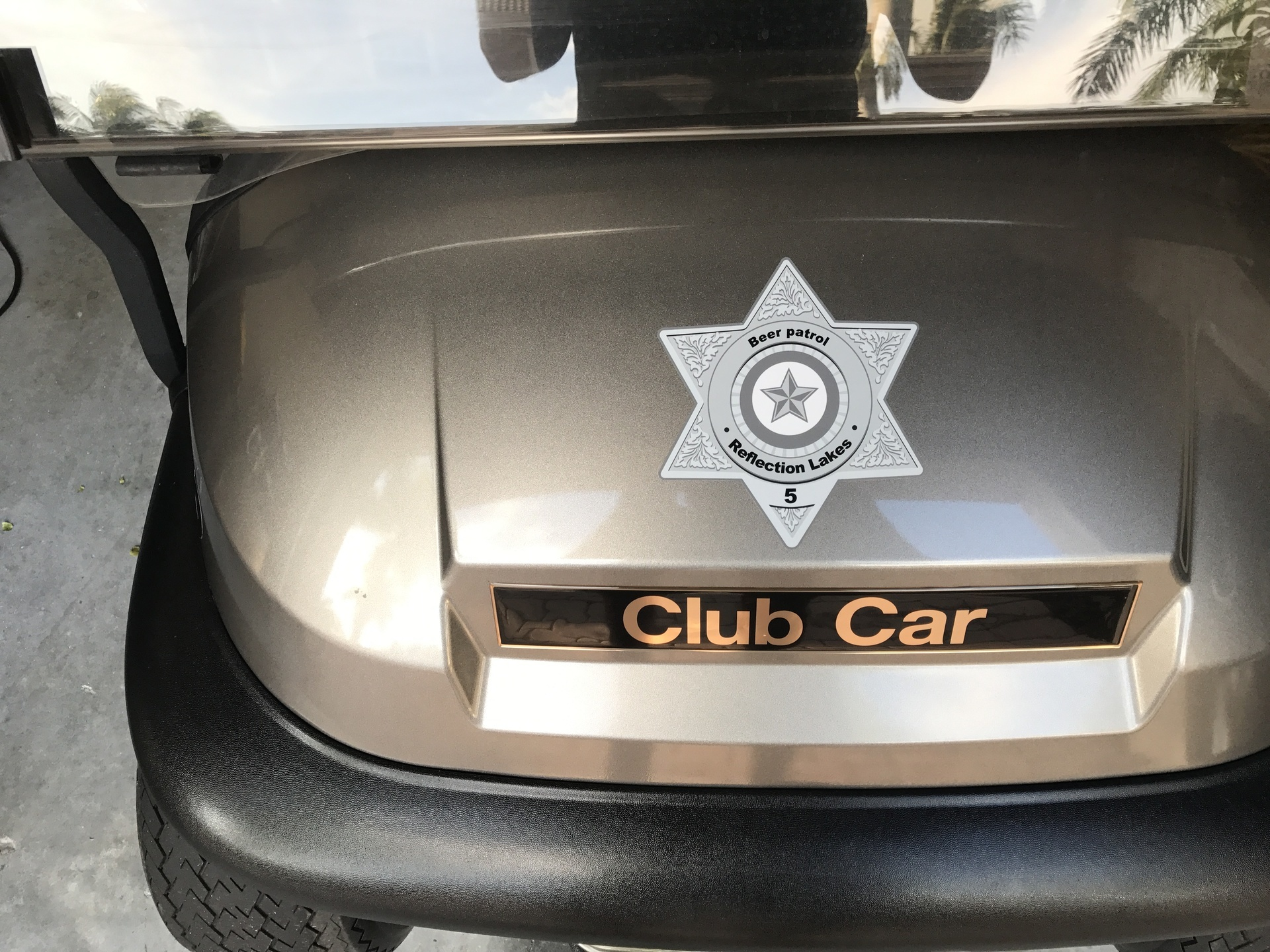 Buds review of custom silver sheriff badge sticker