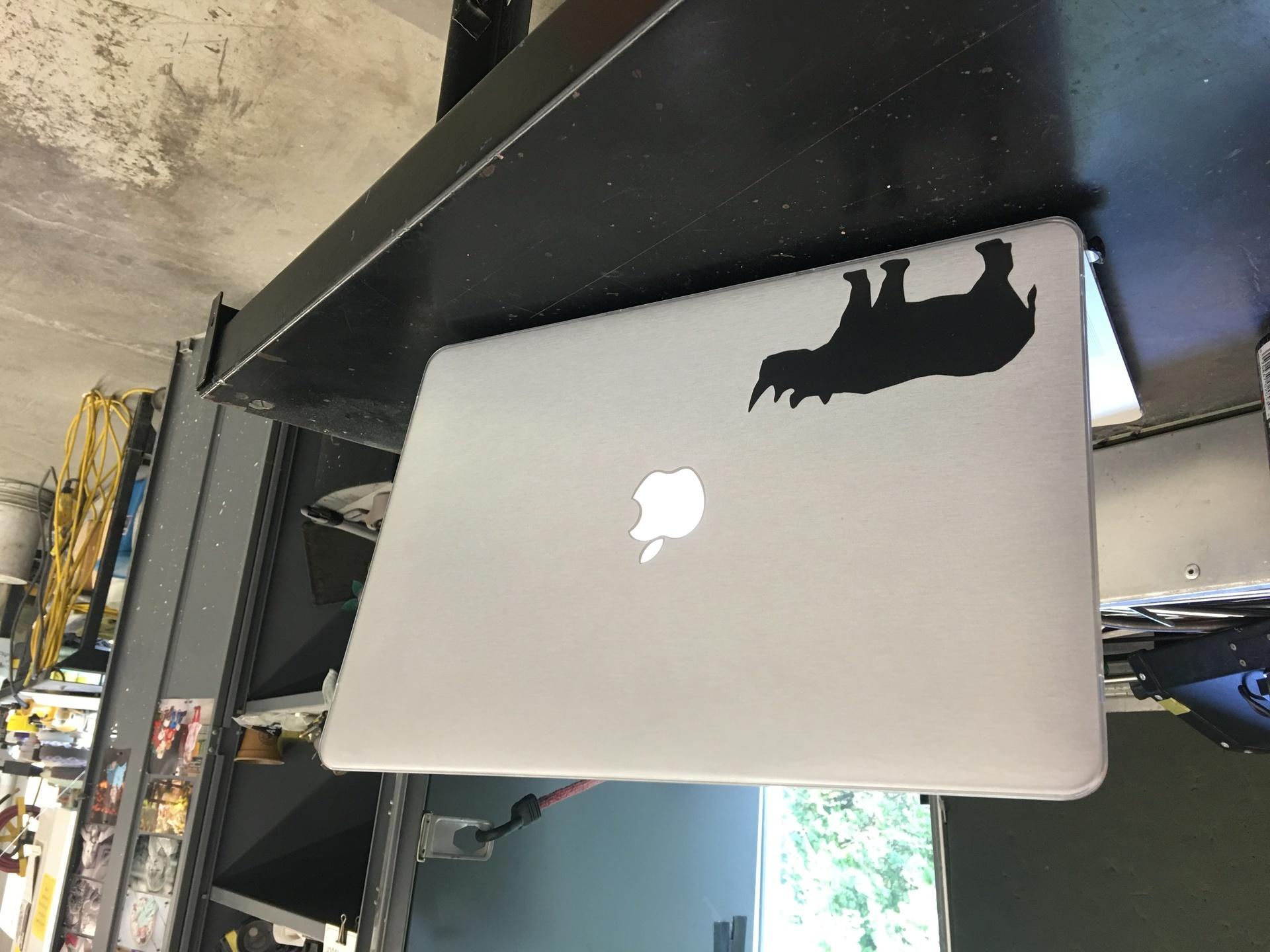 Matt's photograph of their Rhinoceros Body Sticker