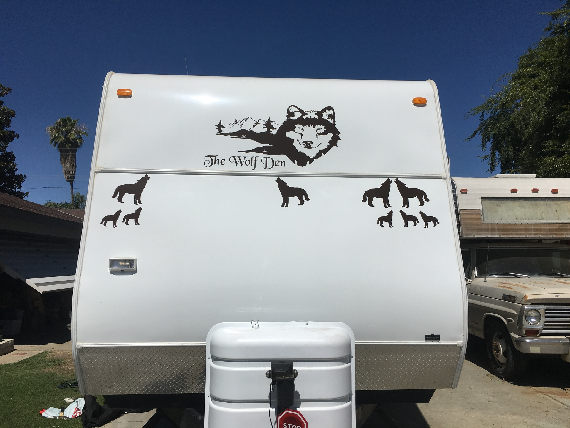 Sandie's photograph of their Wolf Coyote Howling Sticker