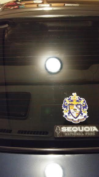 Mike's photograph of their Sigma Alpha Epsilon Crest Die Cut Sticker