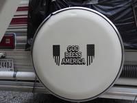 James's review of God Bless America With American Flags Sticker