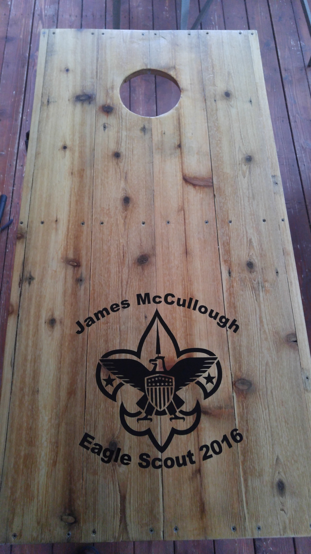 Jim's photograph of their Boy Scouts Logo Eagle Sticker