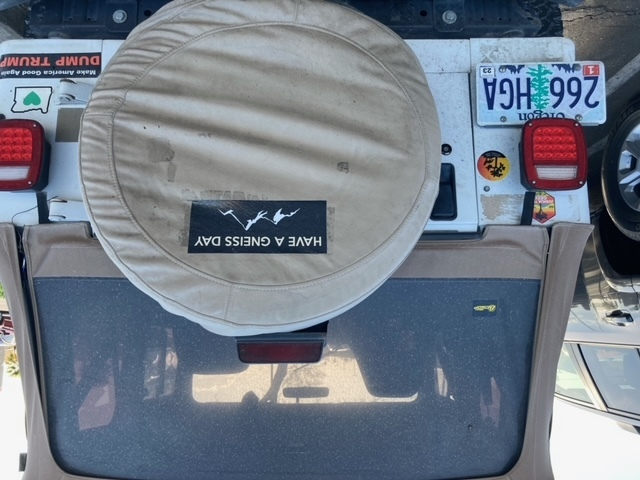 John's photograph of their Custom Bumper Stickers