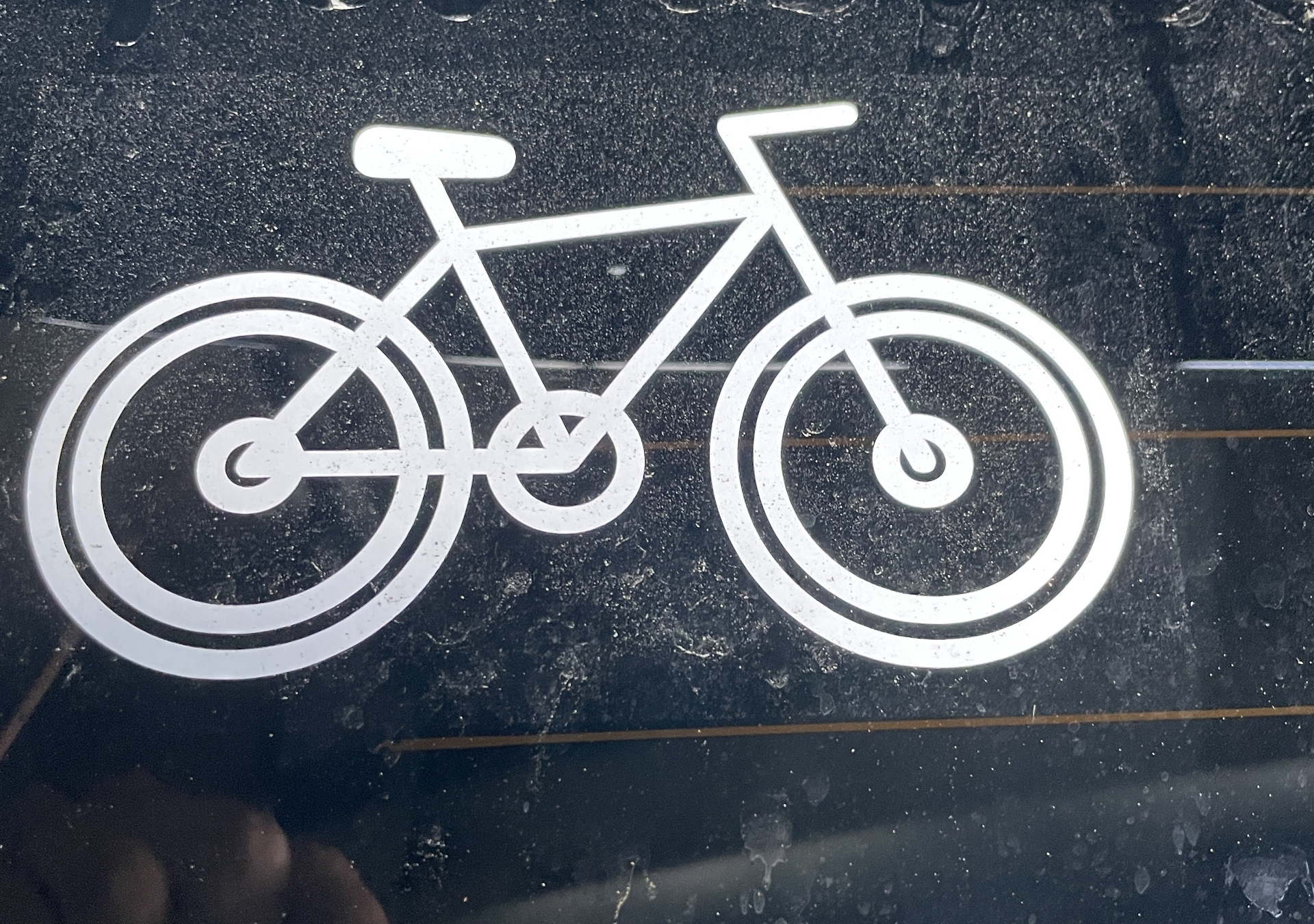 Natalia's photograph of their One Color Bike Camping Sticker