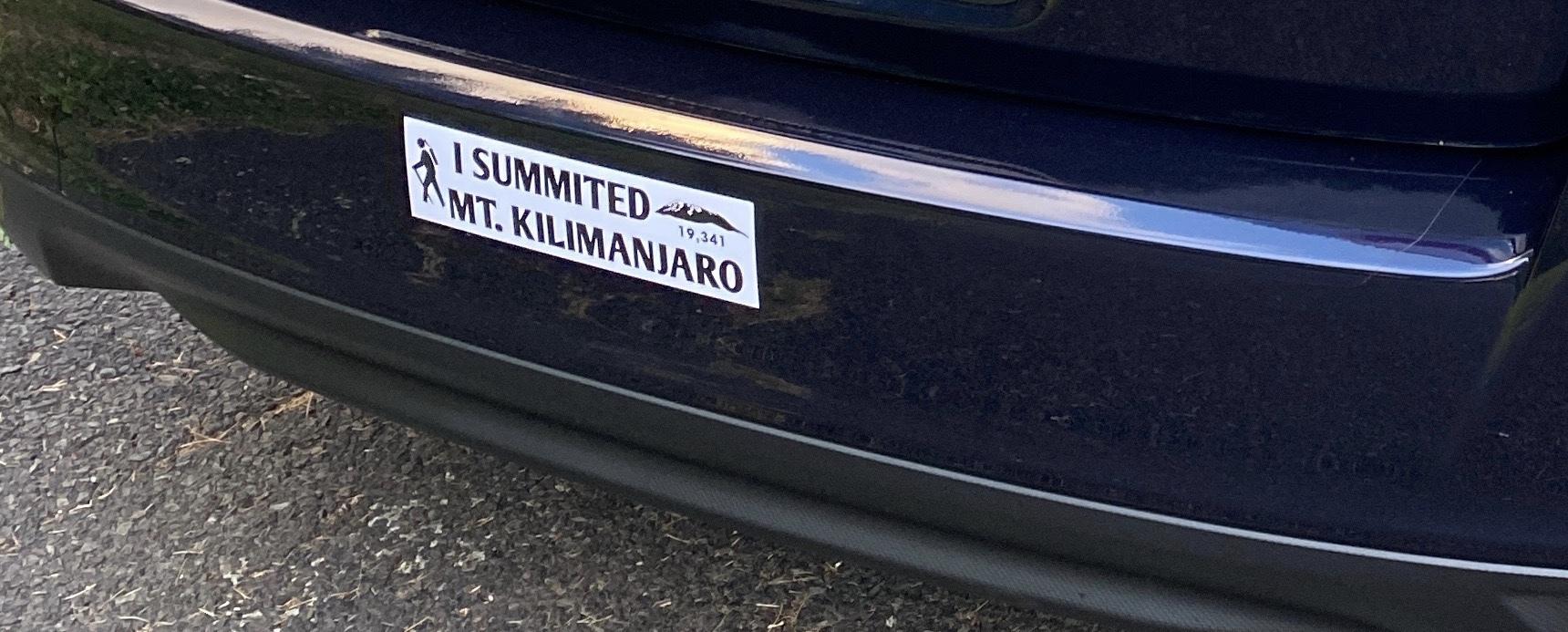 Bill's photograph of their Bumper Sticker Maker