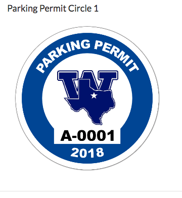 Roy's photograph of their Circle Parking Permit with Your Logo