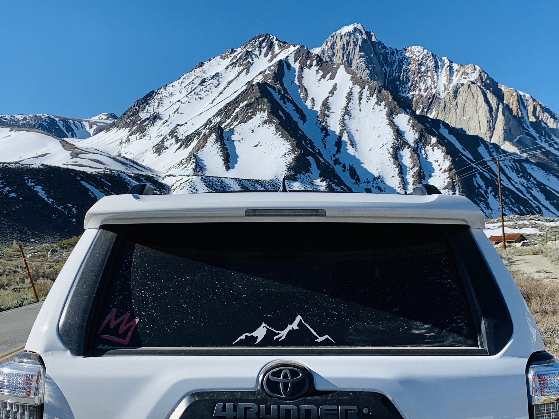 William's photograph of their Mountains Sticker