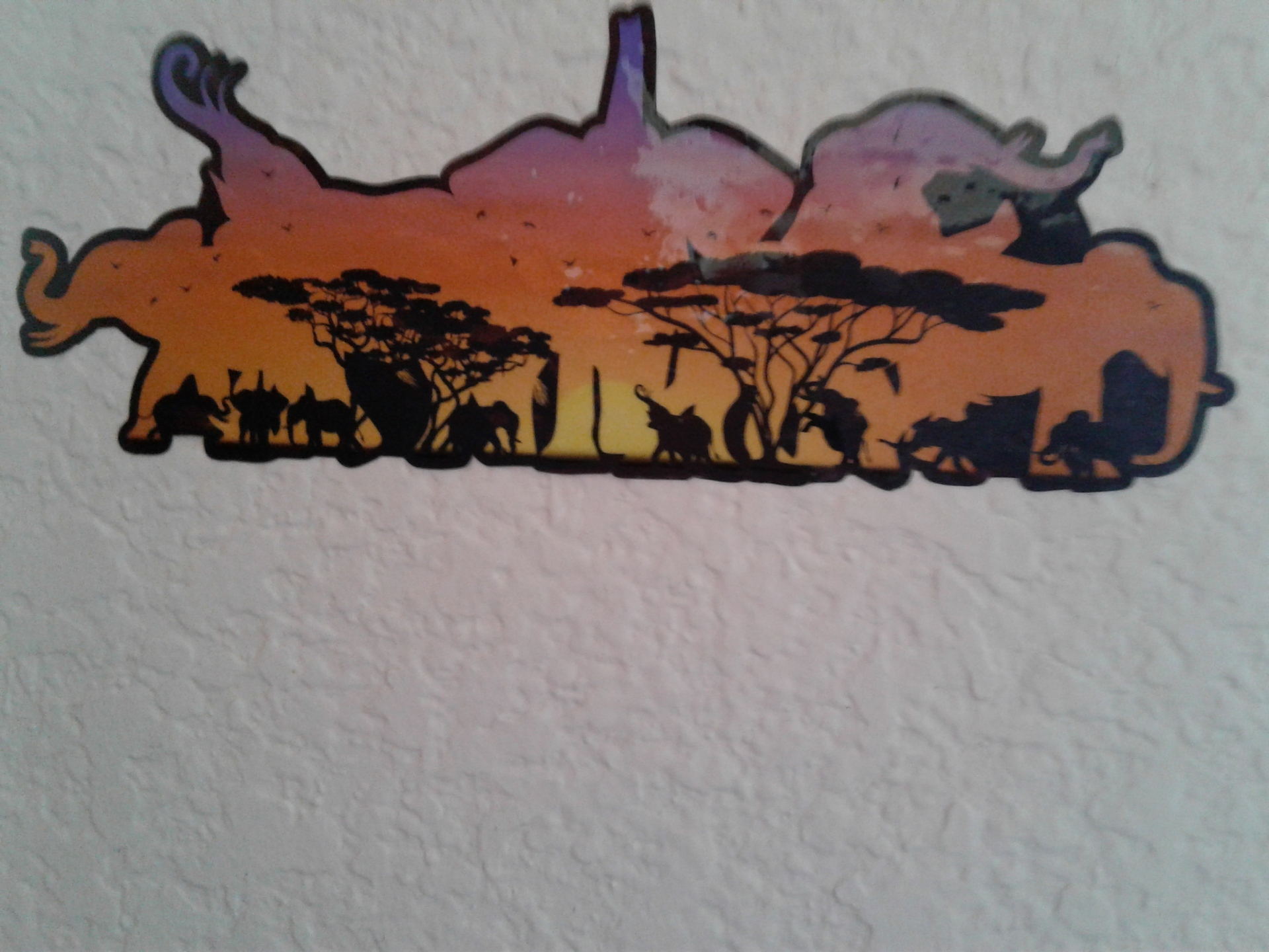 Barbara's photograph of their Double Exposure Elephants and Desert Landscape Sticker