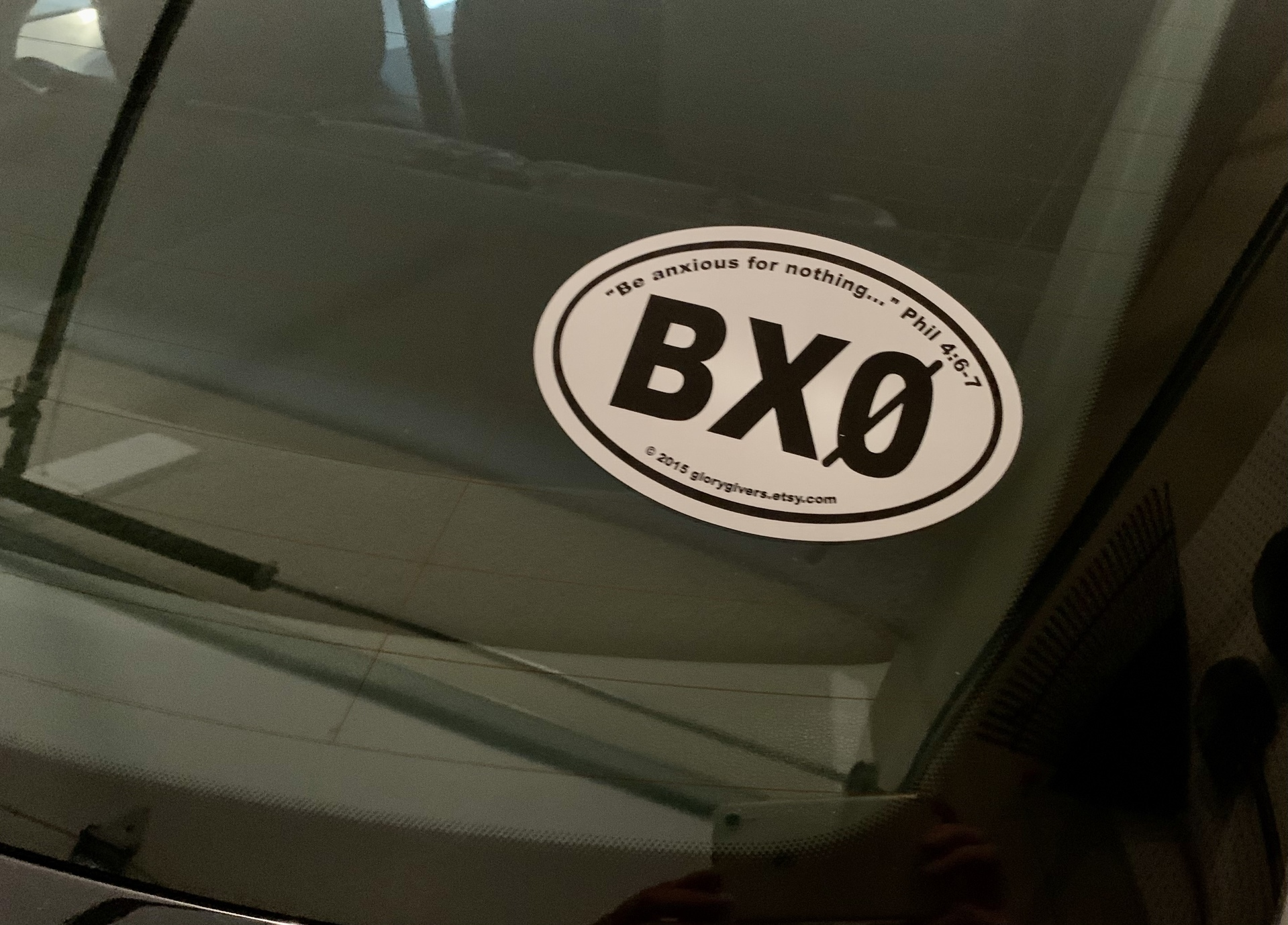 Susan's photograph of their Custom Printed Oval Stickers