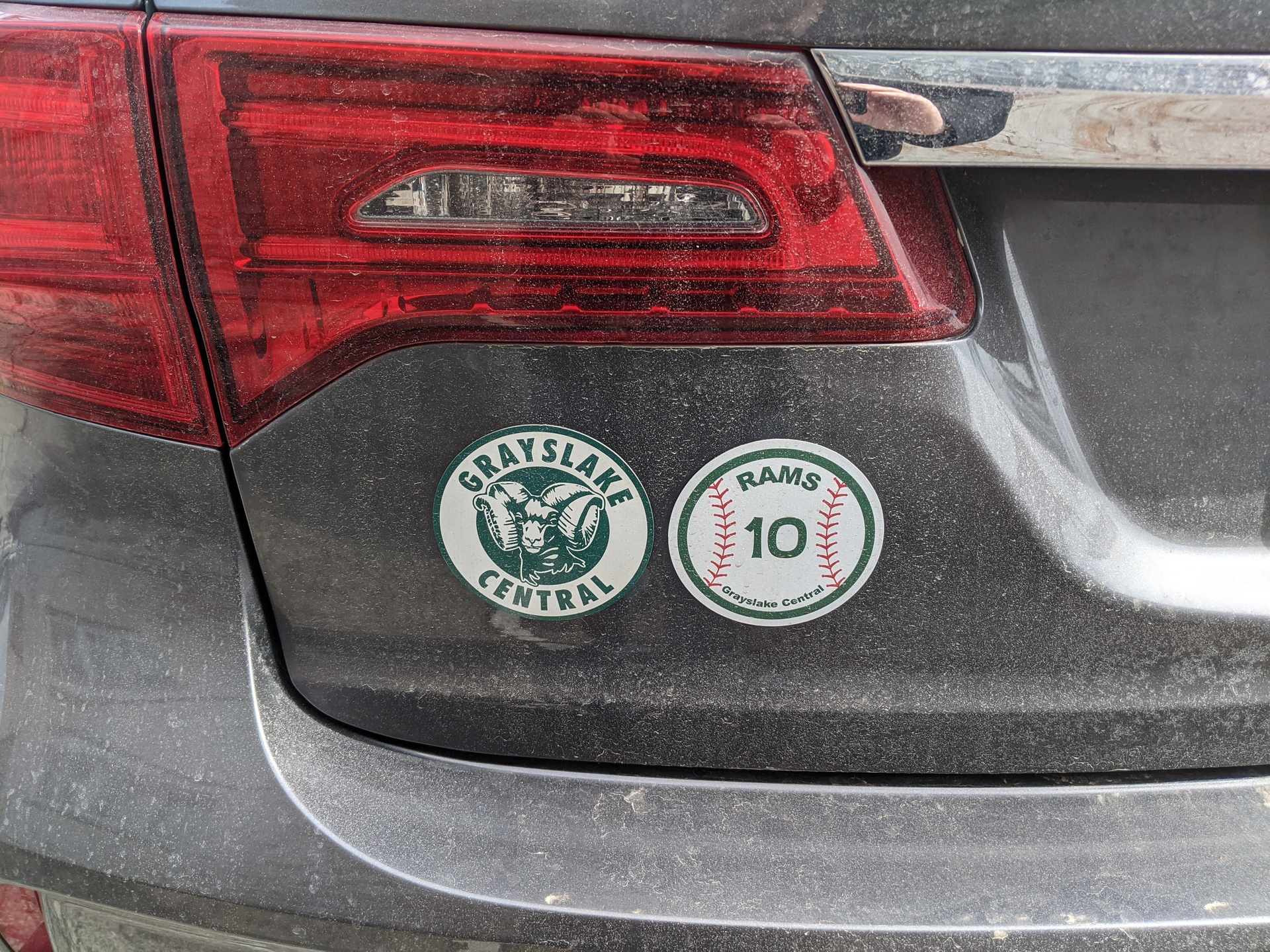 Jon's photograph of their Custom Circle Baseball Magnet with your Number