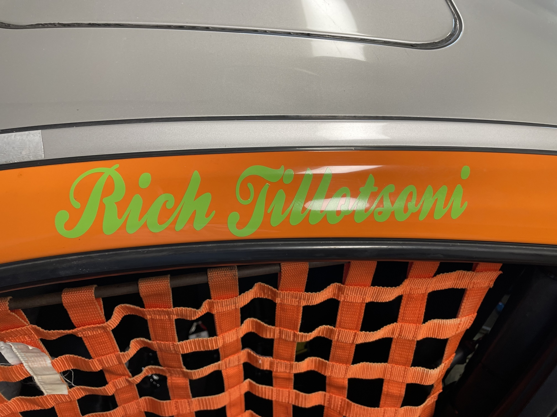 Rich's photograph of their Vinyl Lettering