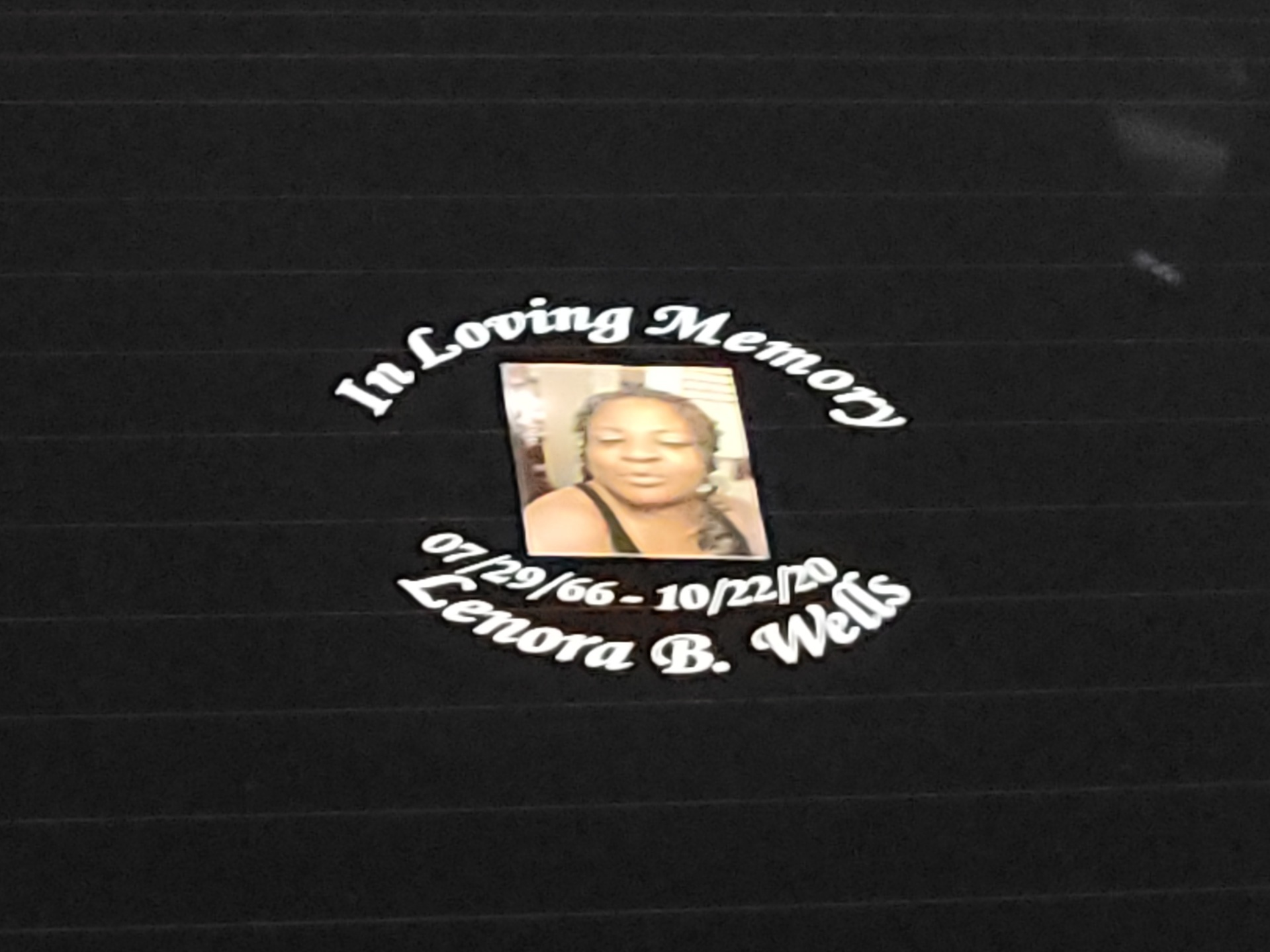 Monique's photograph of their Custom In Loving Memory with Any Photo Sticker