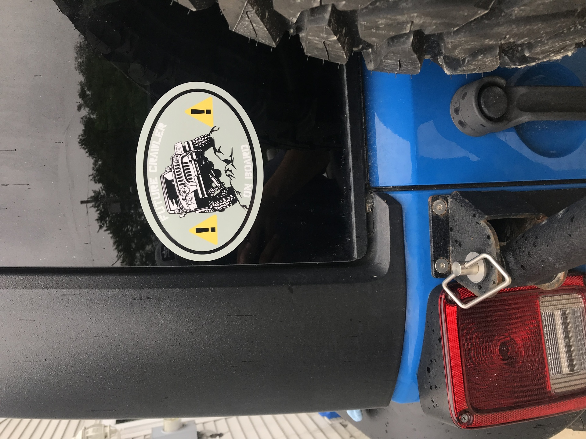 Matthew's photograph of their Custom Oval Sticker with Clipart