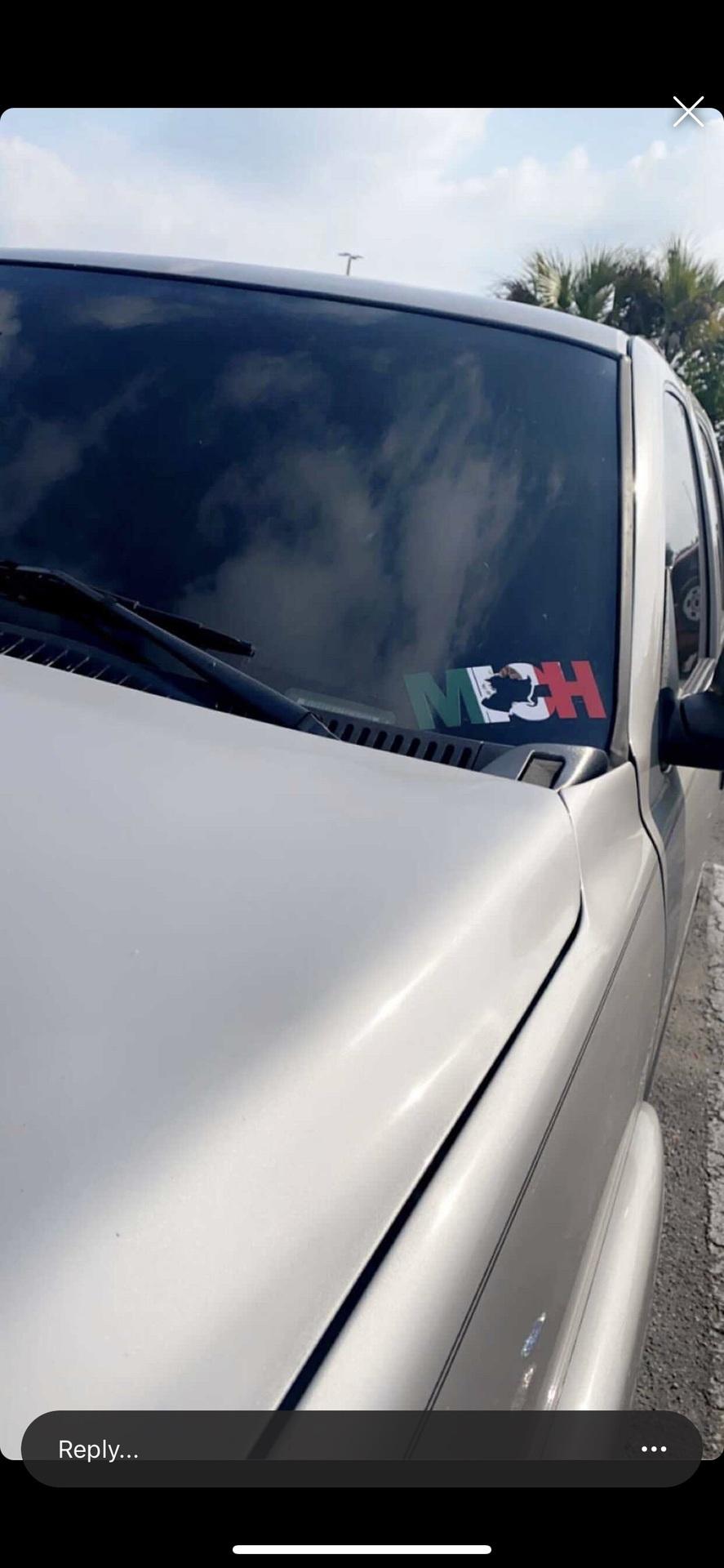 Nancy's photograph of their Mexico Flag Sticker