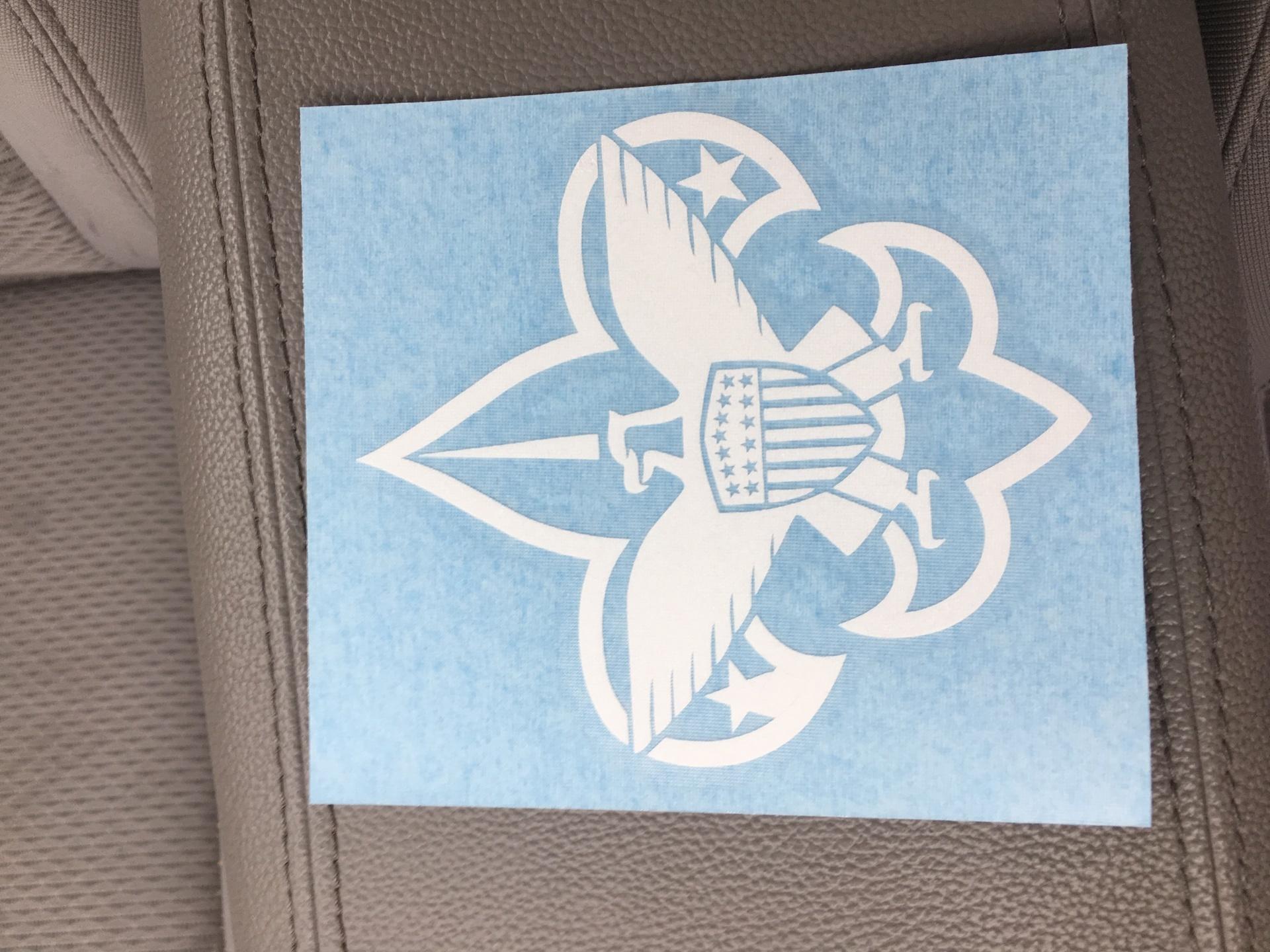 Daniel's photograph of their Boy Scouts Logo Eagle Sticker