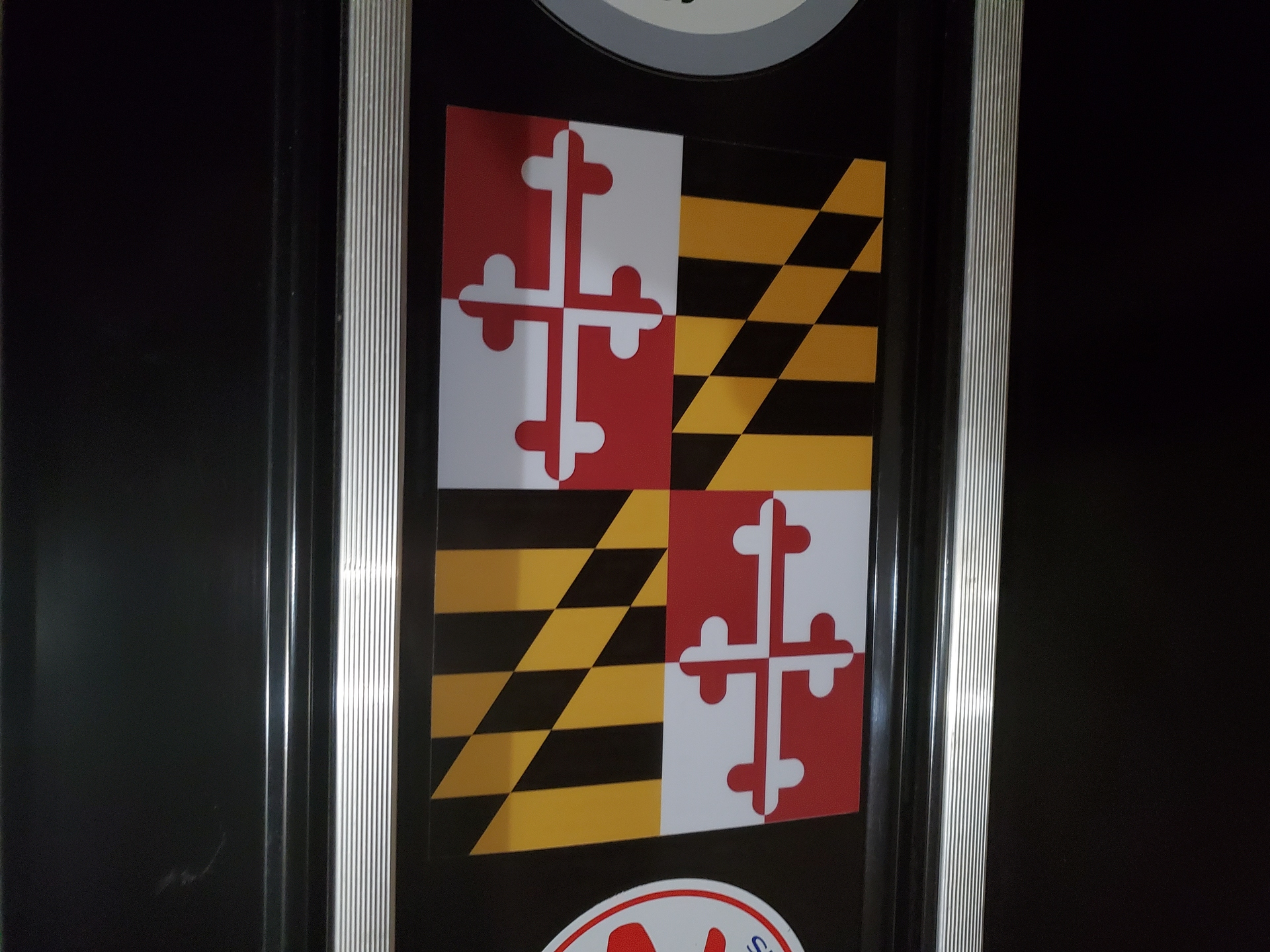 Timothy's photograph of their Maryland Md State Flag Sticker