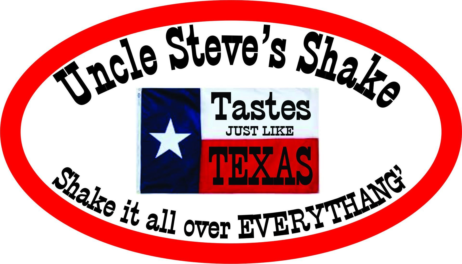 Steve's photograph of their Custom Oval Sticker with Clipart