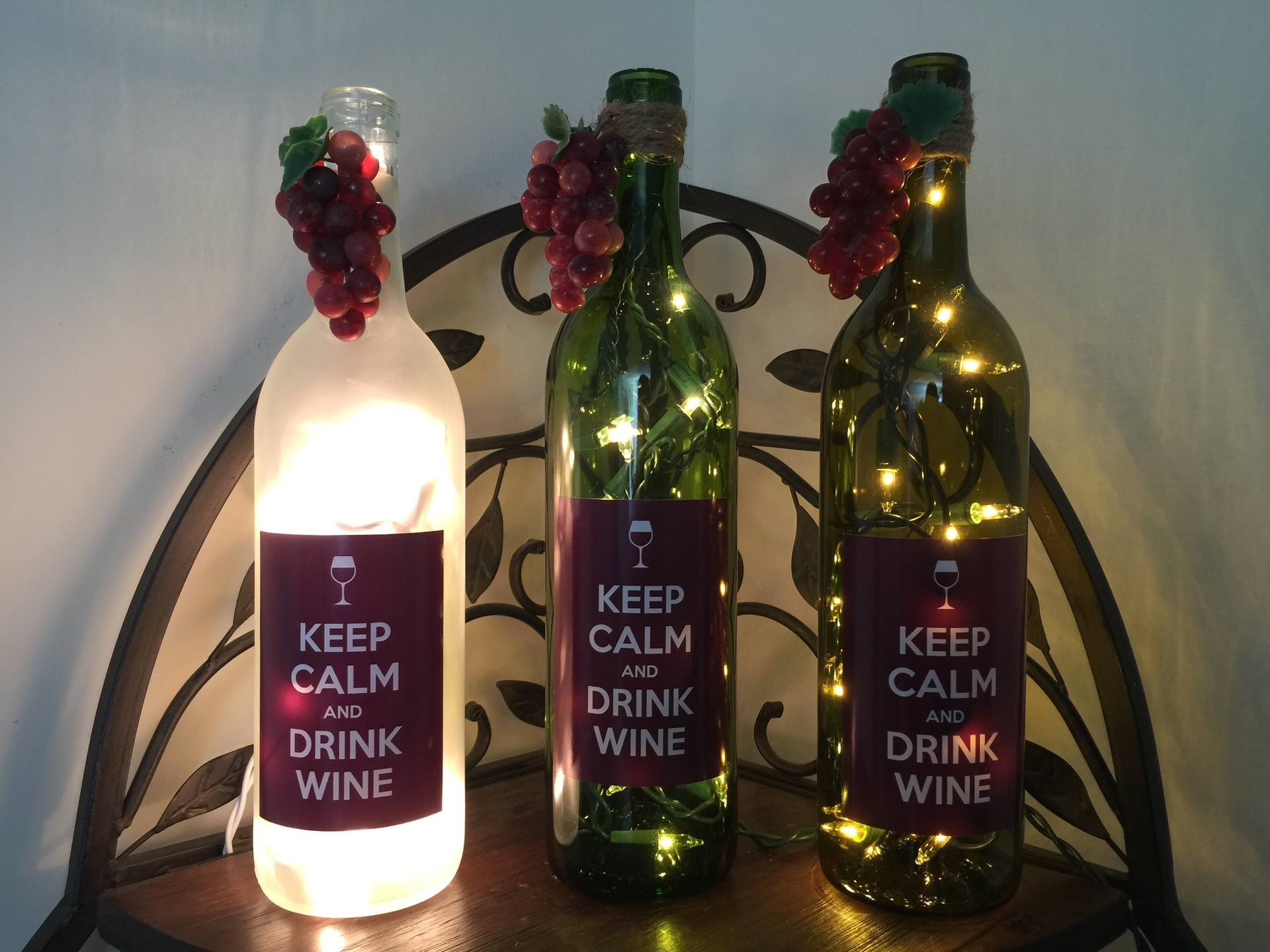 Valerie's photograph of their Keep Calm And Drink Wine Sticker