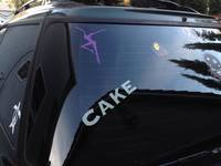 Gina's photograph of their Cake Vinyl Lettering Sticker