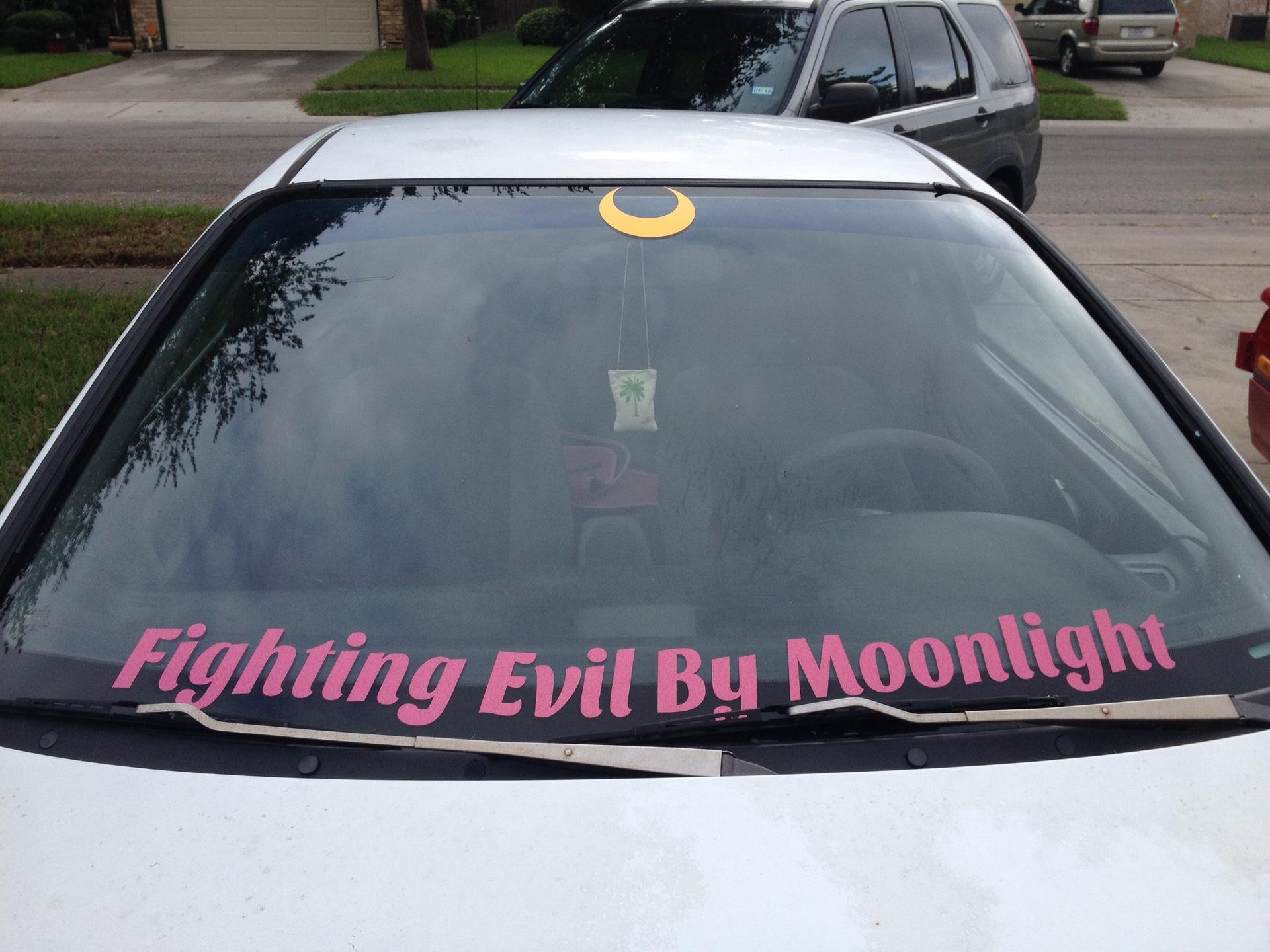 Kara's photograph of their Cresent Moon Sticker