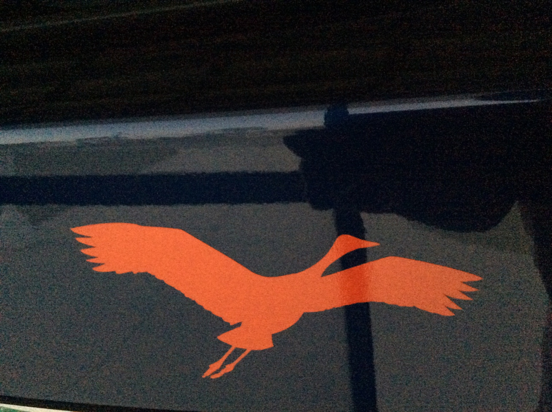 Jane's photograph of their Crane Flying Sticker
