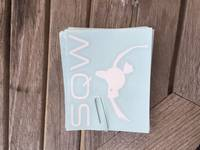 Danielle's photograph of their Gleaming Swan Sticker