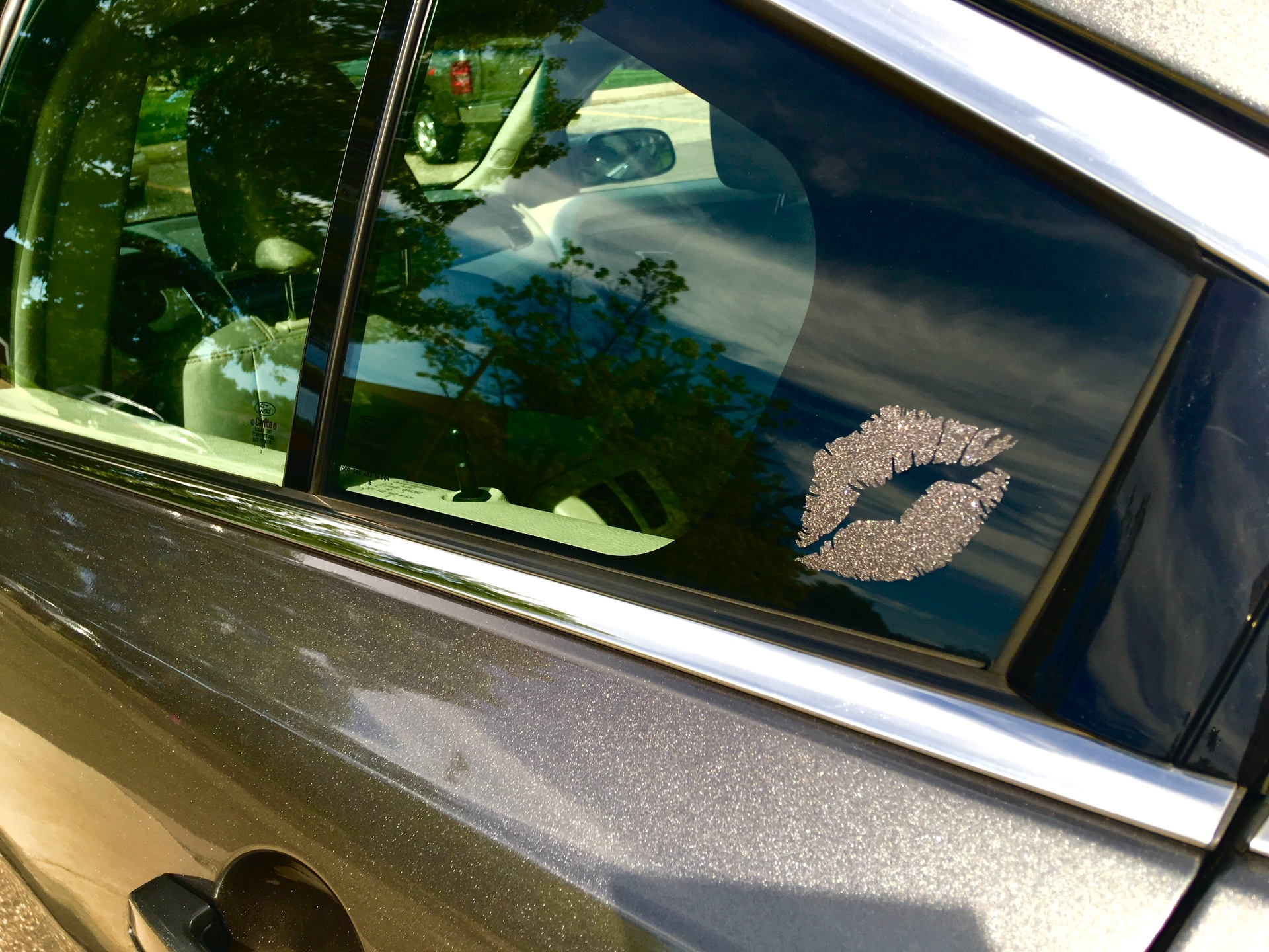 Nicole's photograph of their Lips Sticker