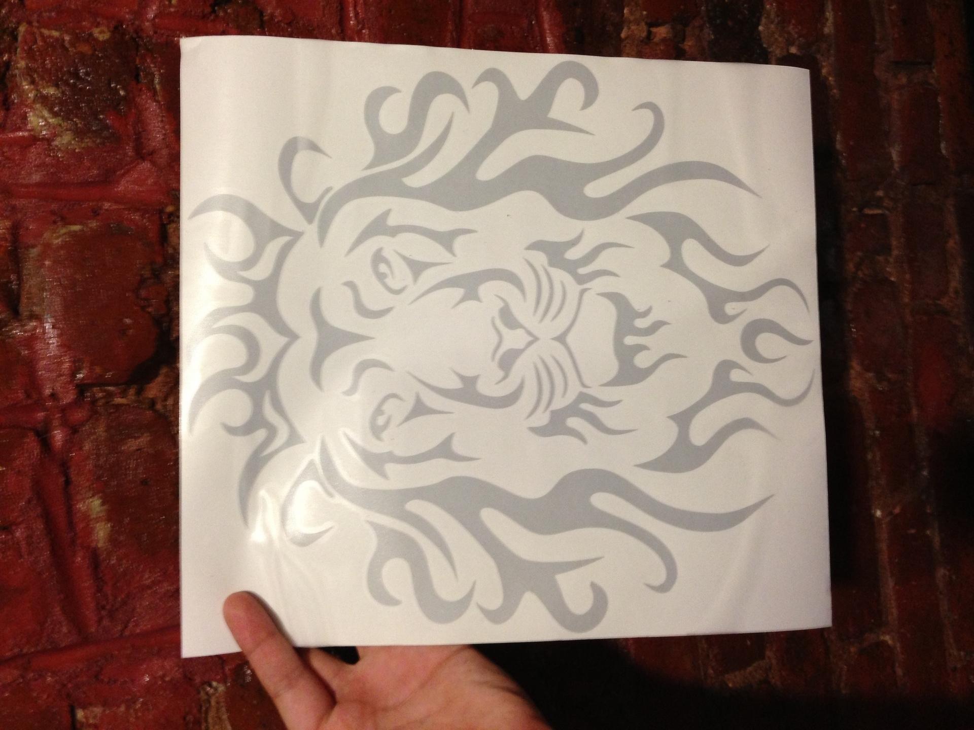 Jon's photograph of their Tribal Lion Head Sticker
