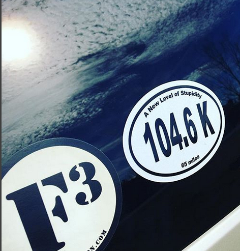 Eric's photograph of their Custom Oval Stickers with Text
