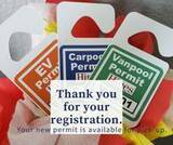Claudine's review of Custom Standard Hang Tag Parking Permit