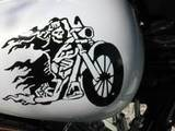 Larry's review of Grim Reaper On Flaming Motorcycle Bike Sticker