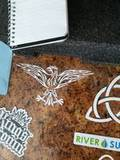 Richard's review of Flaming Tribal Eagle Sticker