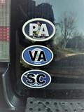 Daniel's review of Virginia Va State Flag Oval Magnet