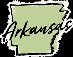Hand Drawn Arkansas State Sticker
