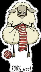100% Wool Sticker