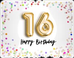 16th Birthday Celebration Sticker