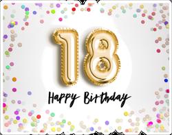 18th Birthday Celebration Sticker