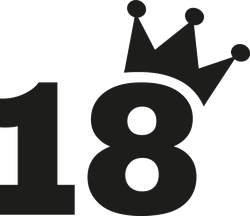 18th Birthday Number Crown Sticker