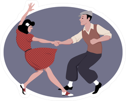 1940s Style Dancing Sticker