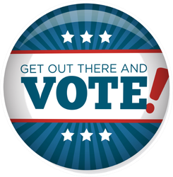 2020 Campaign Election Pin Get Out There And Vote Sticker