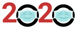 2020 In A Medical Mask Sticker