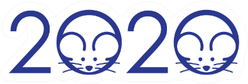 2020 Spelled With Rat Illustrations Sticker